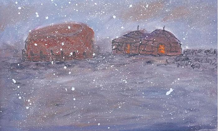 阿鲁斯油画作品《瑞雪》